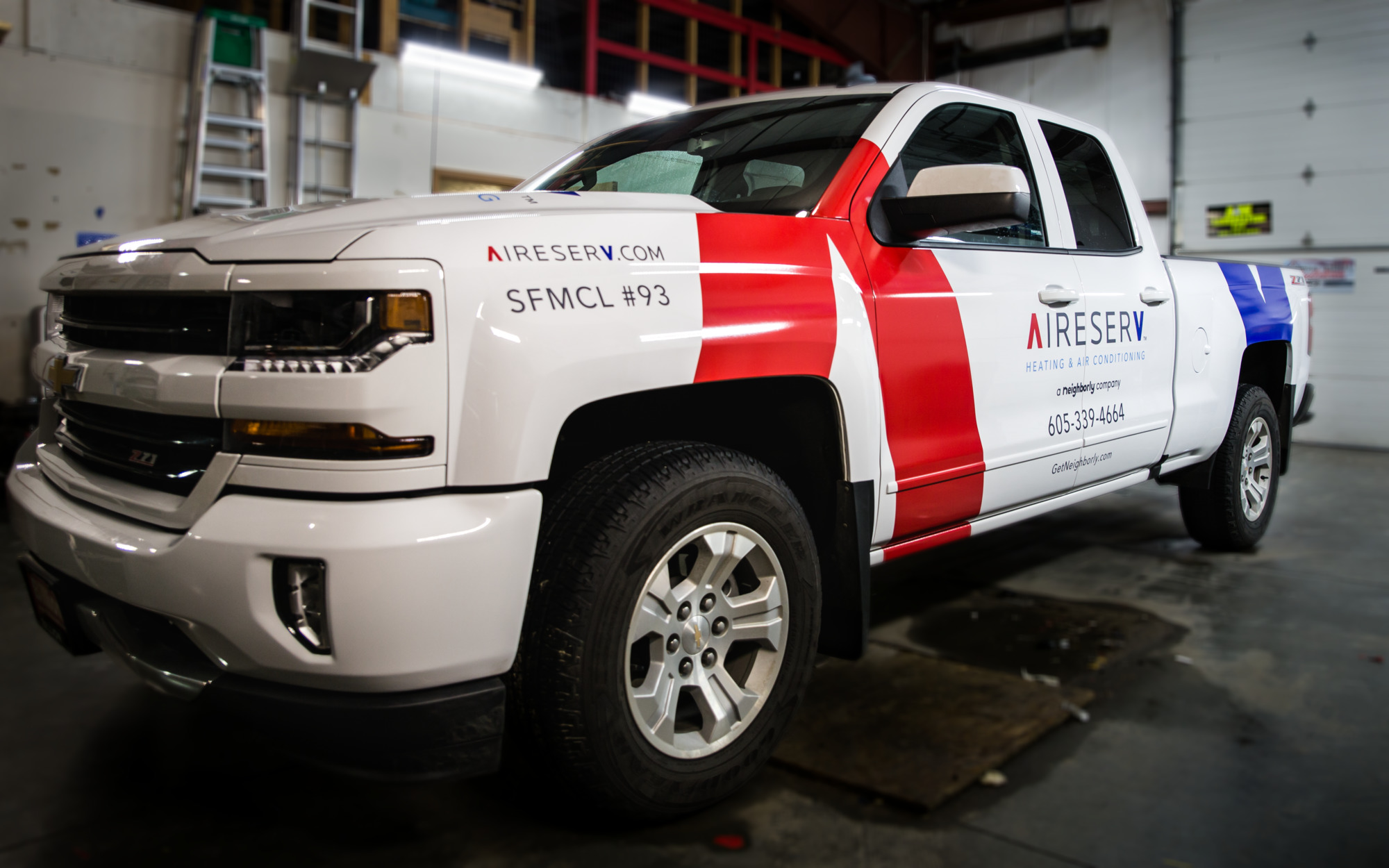 Aireserve Vehicle Graphics Pride Neon Sign Company