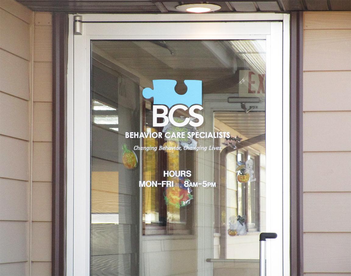 Behavior Care Specialists Door Vinyl Pride Neon Sign Company