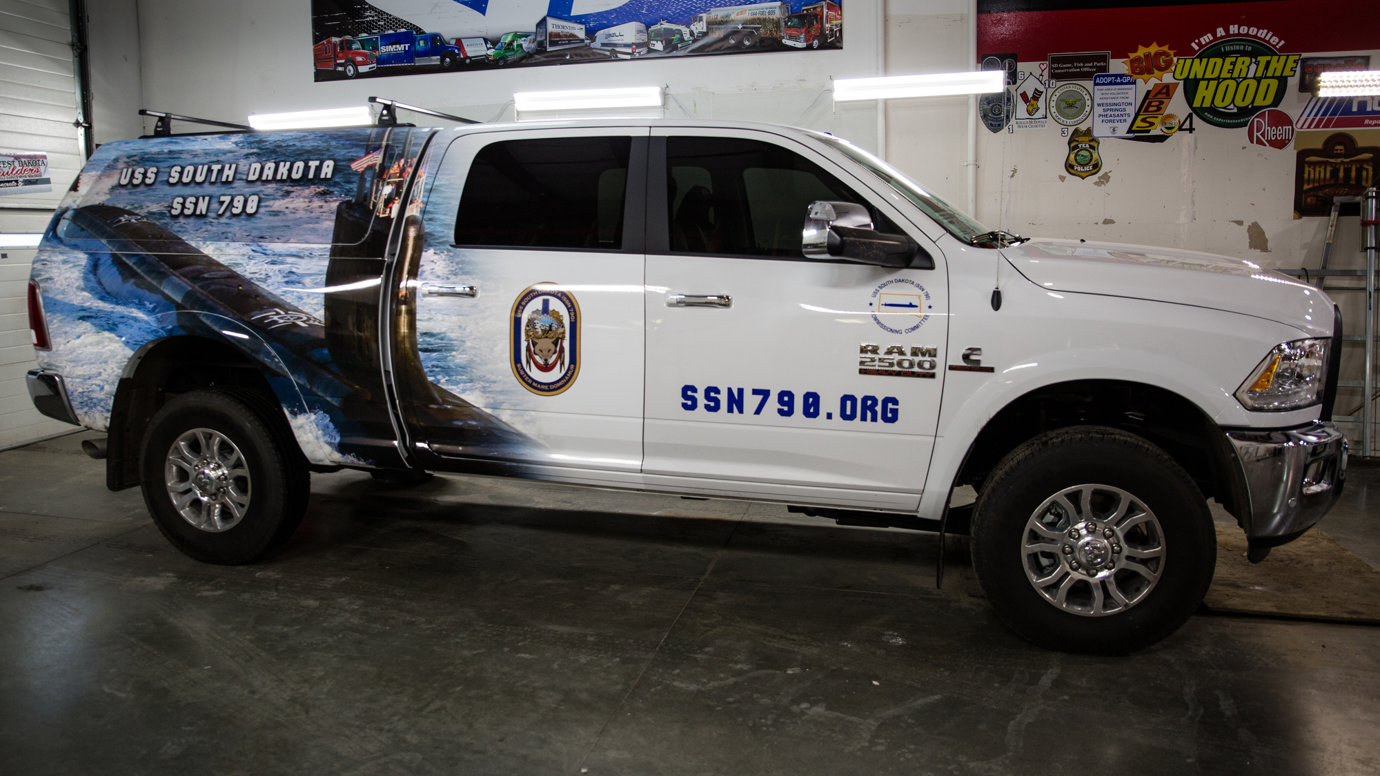 Uss South Dakota Vehicle Graphics Pride Neon Sign Company