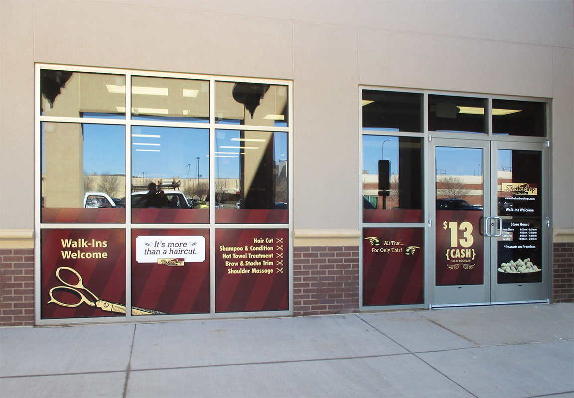 Barbershop Window Vinyl Pride Neon Sign Company